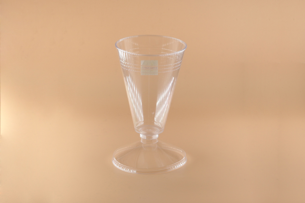 Round glass and cups - Image 2